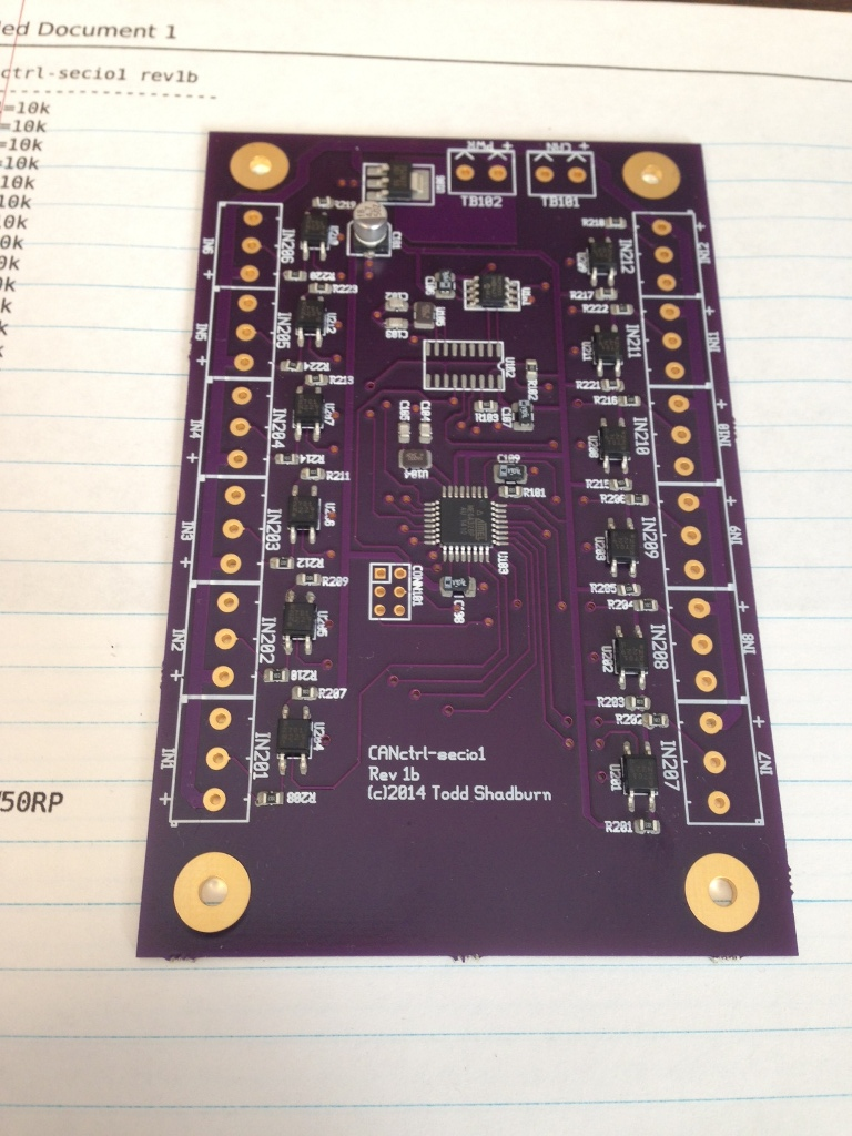 All SMD components have been placed