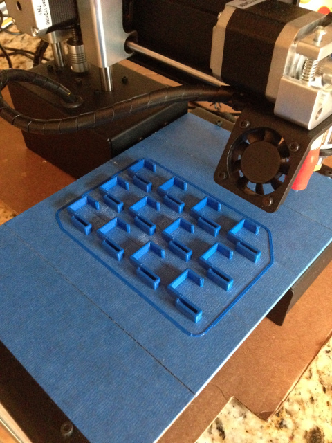 Batch of 3D-printed brackets.