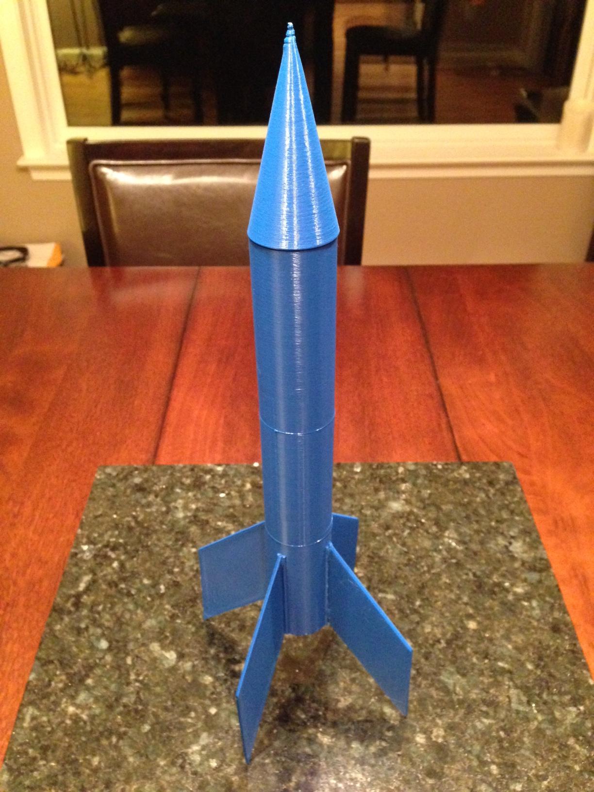3D Printed Rocket Assembled