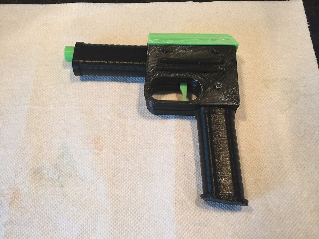 The completed blaster!