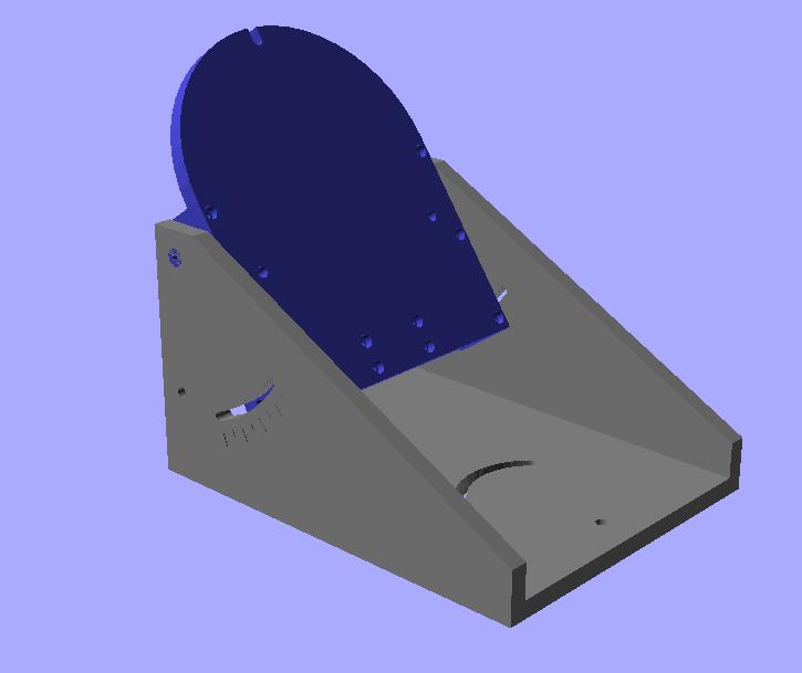 LX200 Equatorial Wedge - OpenSCAD Rendering